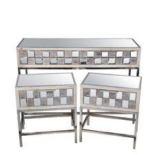 Ivy 3 Piece Console Table Set by Rosecliff Heights