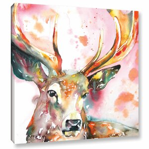 Stag II Painting Print on Wrapped Canvas by Latitude Run