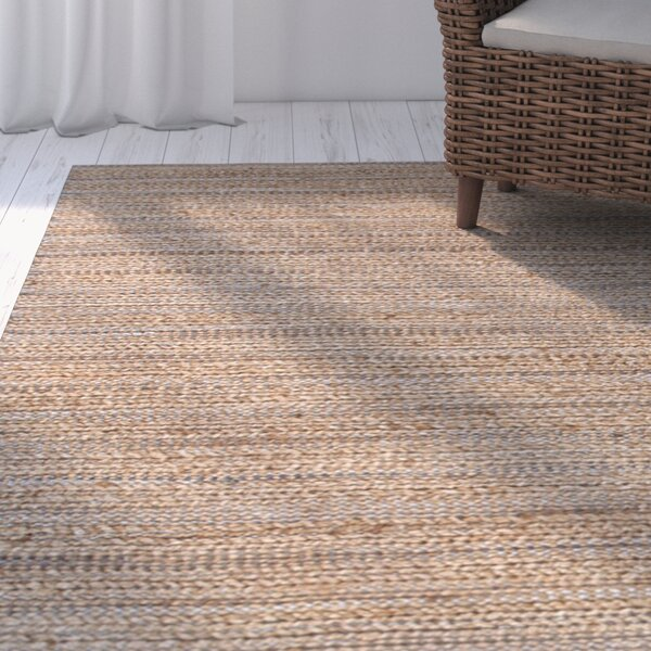 Elmwood Taupe/Brown Solid Area Rug by Rosecliff Heights