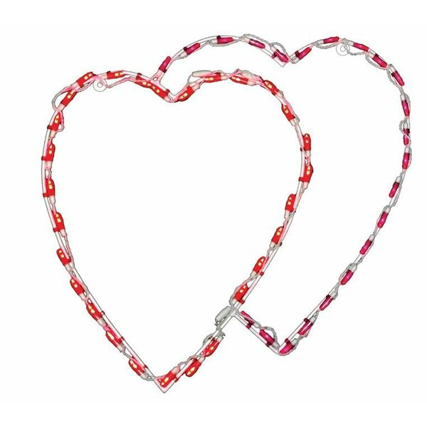 Double Heart LED Light by Brite Ideas