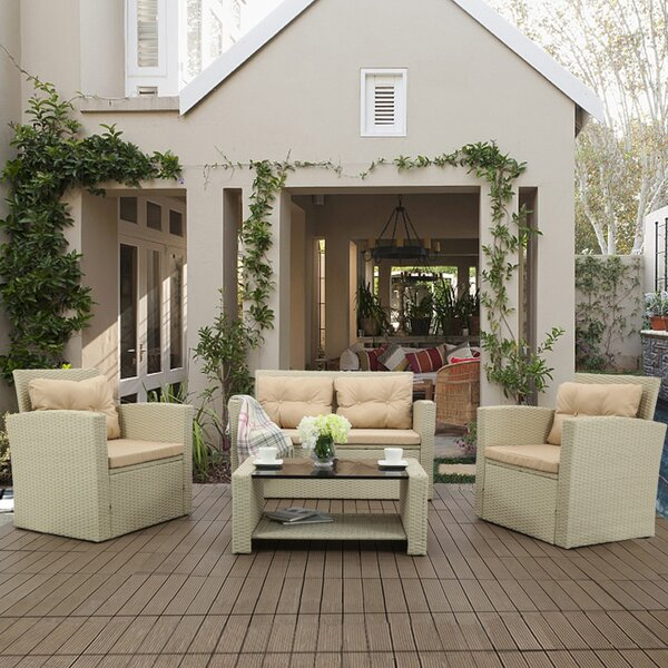 12 Piece Rattan Sofa Seating Group with Cushions by Latitude Run