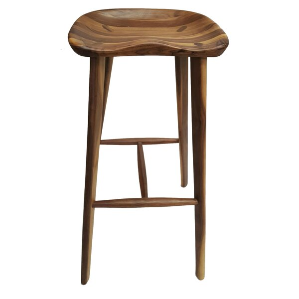 Candelaria Walnut 28 Bar Stool by Foundry Select
