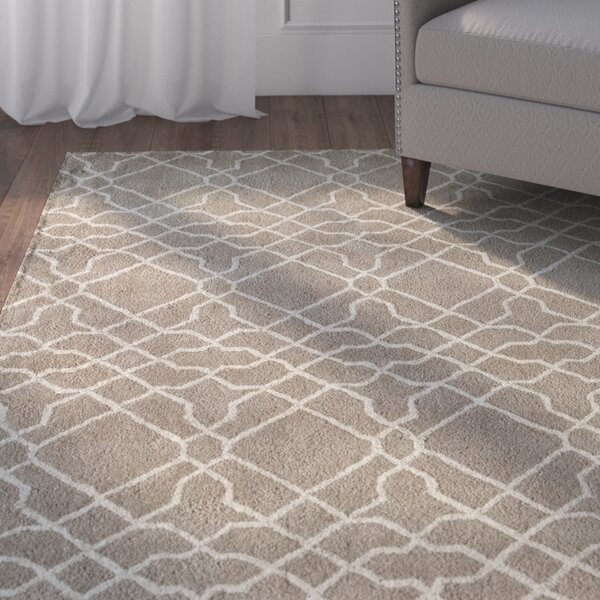 Mckay Geometric Hand-Tufted Wool Beige Area Rug by Andover Mills