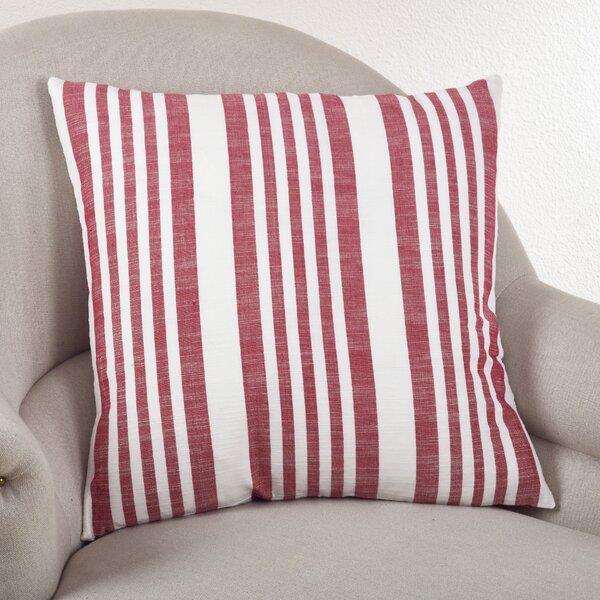 Carmel Striped Cotton Throw Pillow by Saro