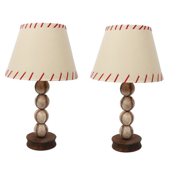 Stacked Baseball 17.5 Table Lamp (Set of 2) by DEI