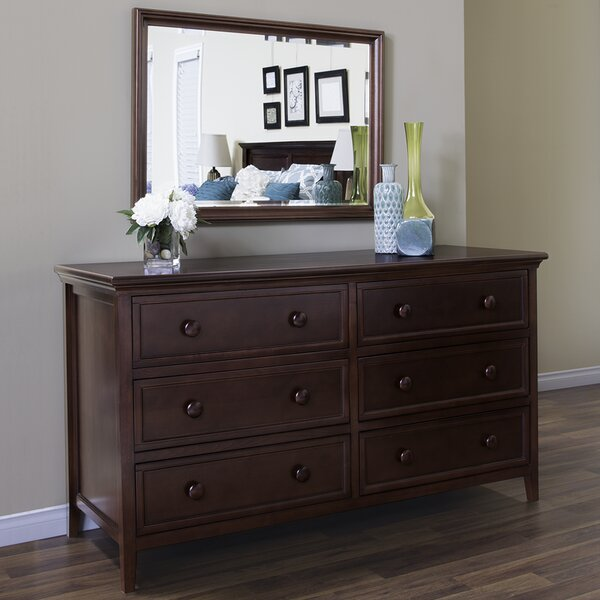 Stpierre 6 Drawer Double Dresser with Mirror by Charlton Home