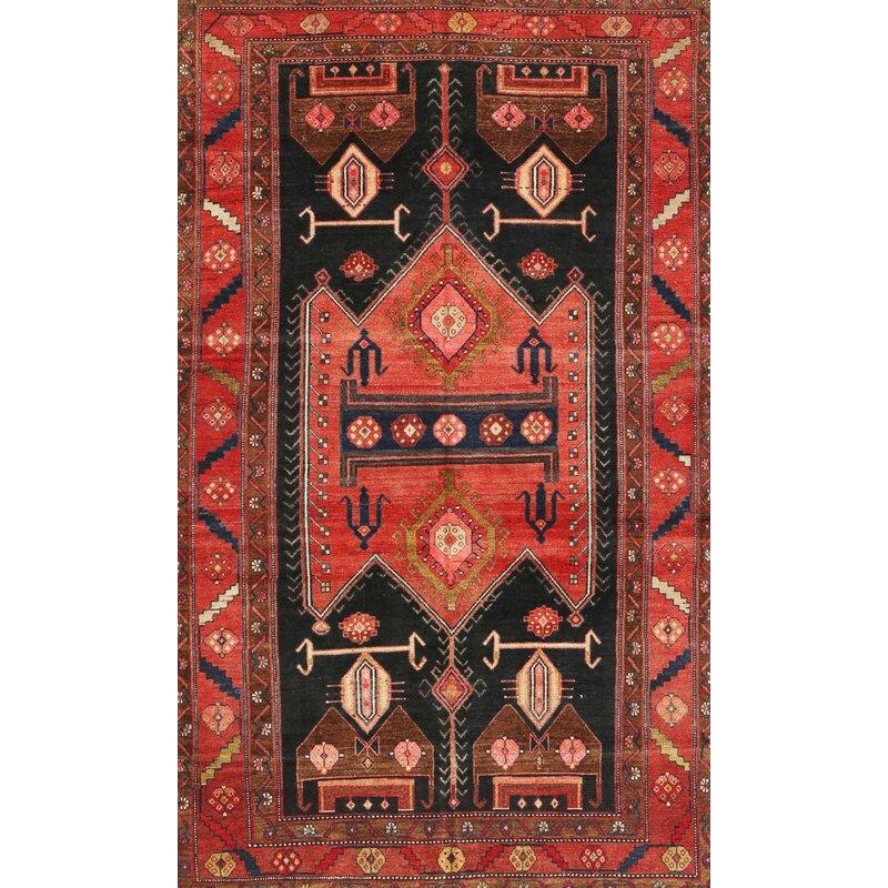 Valero Traditional Red Black Area Rug