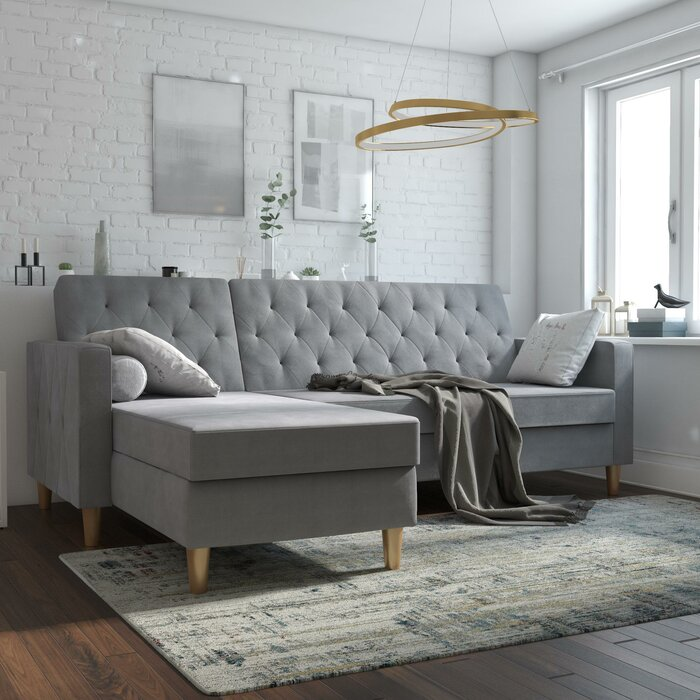 Outstanding Liberty Reversible Sleeper Sectional Onthecornerstone Fun Painted Chair Ideas Images Onthecornerstoneorg