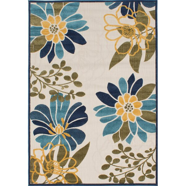 Schirado Beige/Blue Indoor/Outdoor Area Rug by Winston Porter