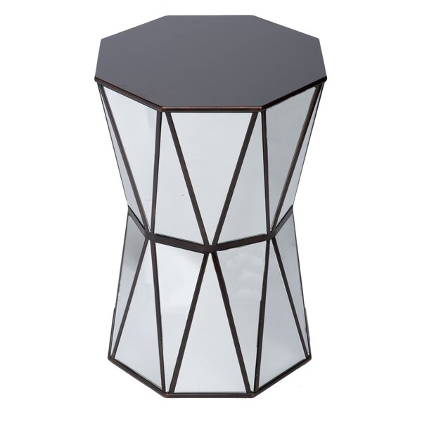 Tricia Mirrored End Table by Wildon Home®