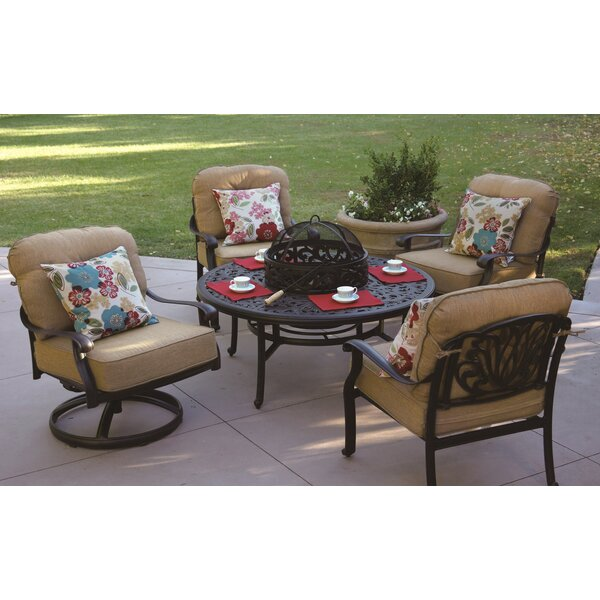 Lebanon 5 Piece Conversation Set with Cushions by Three Posts