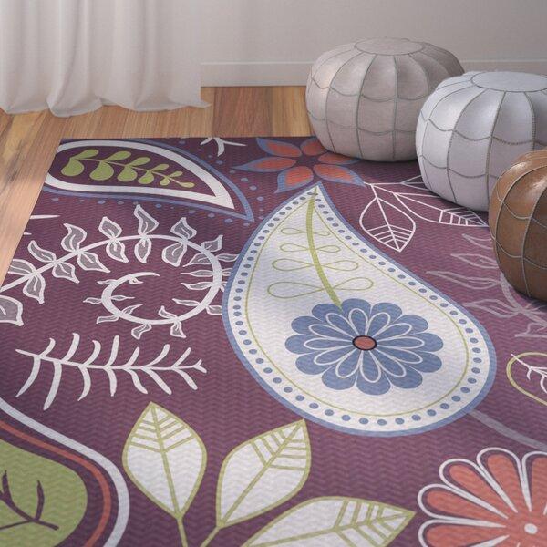 Vinoy Purple Indoor/Outdoor Area Rug by Bungalow Rose
