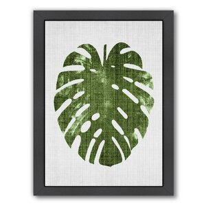 Tropical Leaf 1 Framed Graphic Art by Bay Isle Home