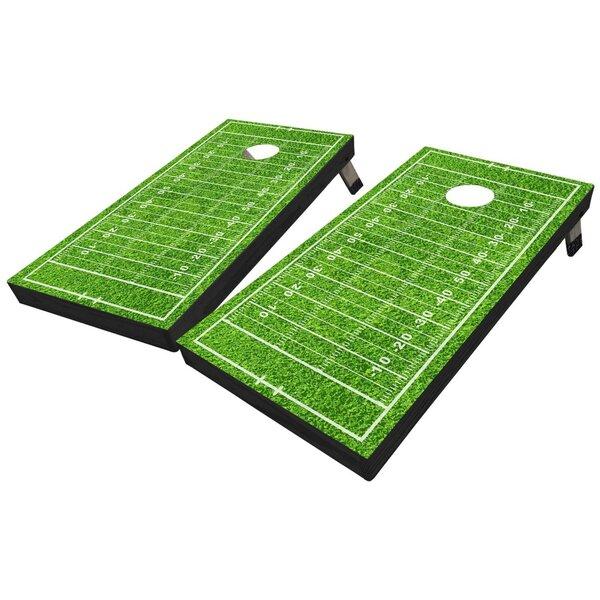 Footbal Field Cornhole Board with Toss Bags Set by West Georgia Cornhole