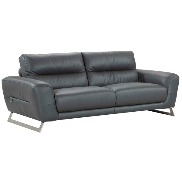 Don't Miss The Hawkesbury Common Luxury Italian Upholstered Living Room Leather Sofa by Orren Ellis by Orren Ellis
