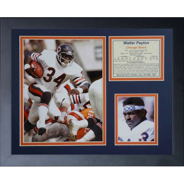 Walter Payton Away Framed Memorabilia by Legends Never Die