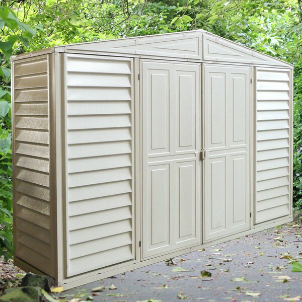 WoodBridge 10 ft. 6 in. W x 2 ft. 9 in. D Plastic Tool Shed by Duramax Building Products