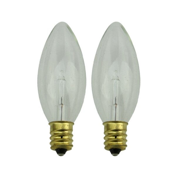 Candelabra Incandescent Light Bulb (Set of 2) by Northlight Seasonal