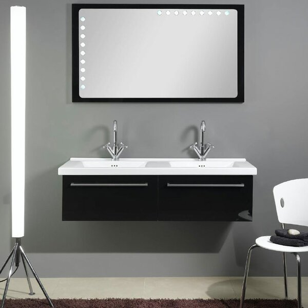 Fly 49 Double Bathroom Vanity Set with Mirror by Iotti by Nameeks