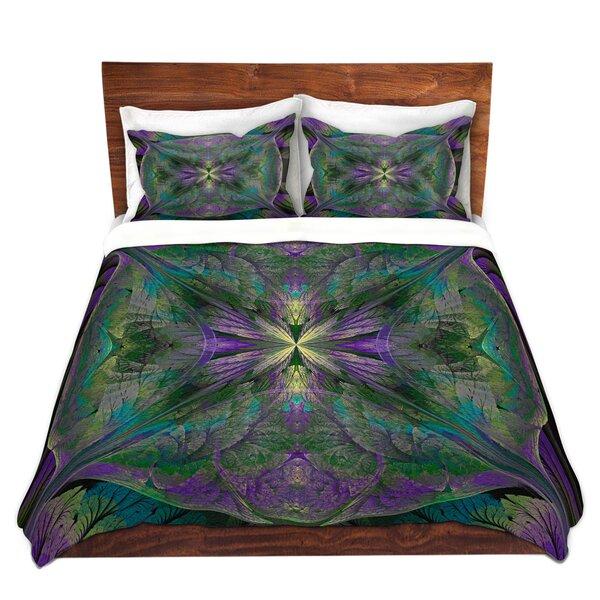 Leafy Mandala Jade Duvet Cover Set