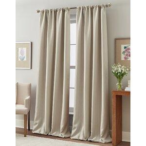 Rocio Striped Room Darkening Thermal Rod Pocket Single Curtain Panel