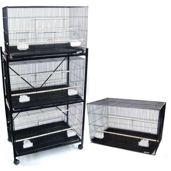 Four Medium Bird Cage with 2 Feeder Doors by YML