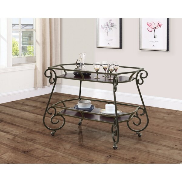 Cosey Bar Carts with Scroll Accents by Fleur De Lis Living