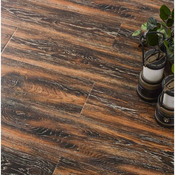 Archard 7 x 48 x 12mm Oak Laminate Flooring in Hazelnut by Serradon