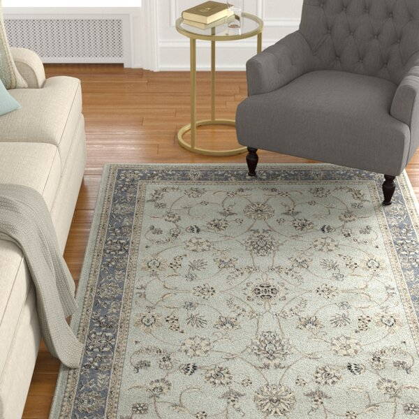 Merchant Soft Mint/Ivory/Beige Area Rug by Astoria Grand