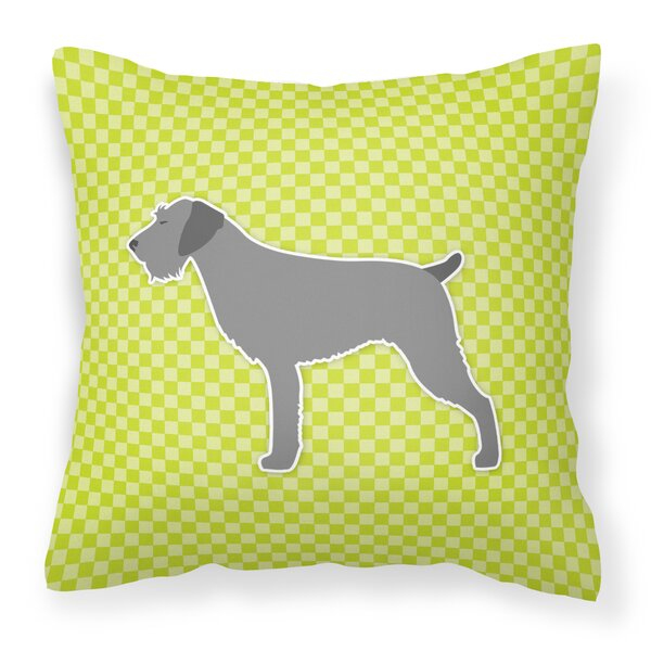 German Wirehaired Pointer Indoor/Outdoor Throw Pillow by East Urban Home