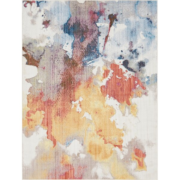 Downtown West Village Orange/Blue Area Rug by Jill Zarin™