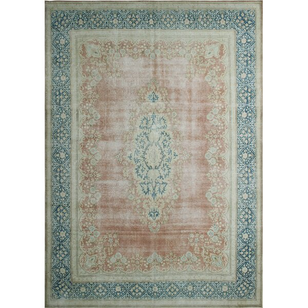 One-Of-A-Kind Tena Kirman Hand-Knotted Wool Blue/Brown Area Rug by Isabelline