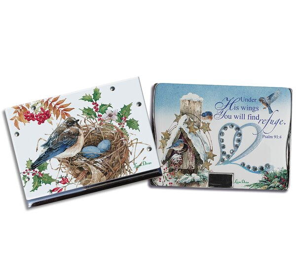 2 Piece Snow Bird Compact Mirror Set by August Grove