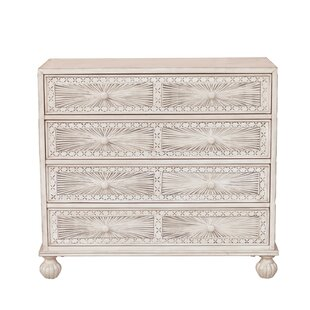 Inexpensive Stevens Traditional Hand Painted 4 Drawer Accent Chest by Mistana