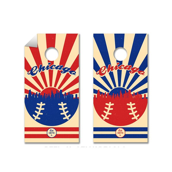 MLB Cornhole Board Decal (Set of 2) by The Cornhole Crew