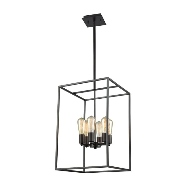 Pinkham 6 - Light Unique / Statement Rectangle / Square Chandelier By Breakwater Bay