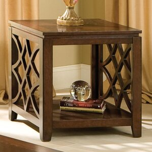 Blue Hills End Table by Three Posts