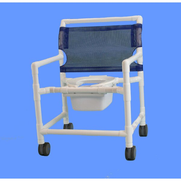 Extra Wide Commode Shower Chair by Care Products,