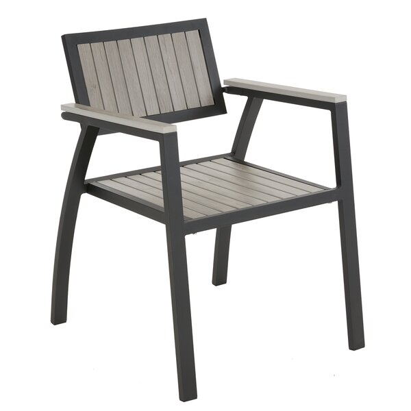 Crete Stacking Patio Dining Chair (Set of 2) by Ivy Bronx