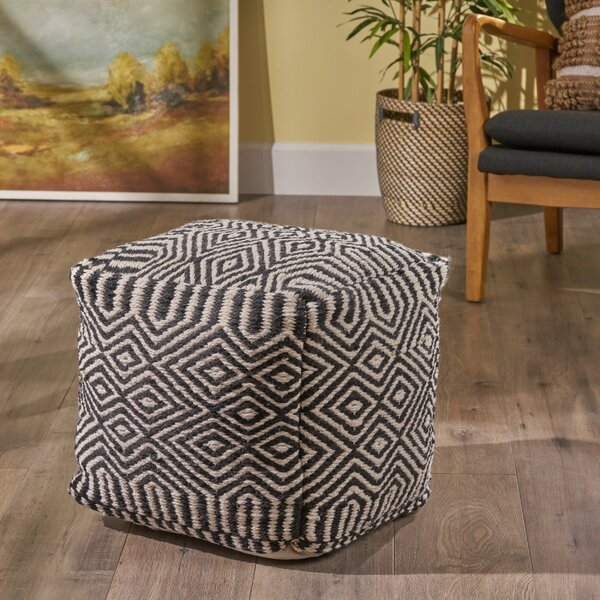 Grissett Pouf by Bungalow Rose