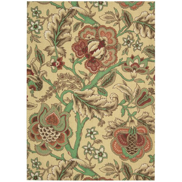 Global Awakening Imperial Dress Beige/Brown Area Rug by Waverly