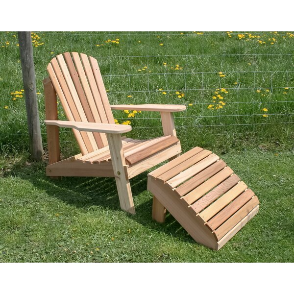 Andres Adirondack Chair with Ottoman by Longshore Tides Longshore Tides