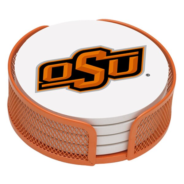 5 Piece Oklahoma State University Collegiate Coaster Gift Set by Thirstystone