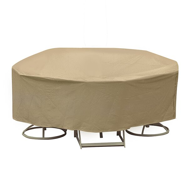 Round Table and High Back Chair Cover by Freeport Park
