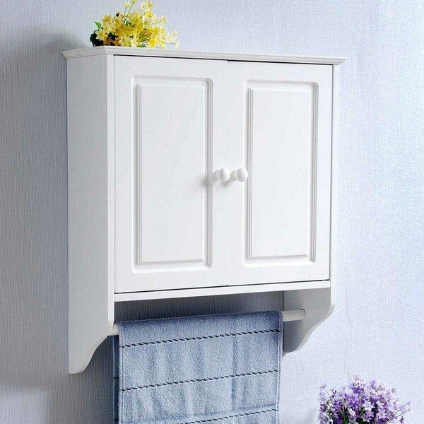 Anastasius 18.9 W x 21.7 H x 6.3 D Solid Wood Wall Mounted Bathroom Cabinet