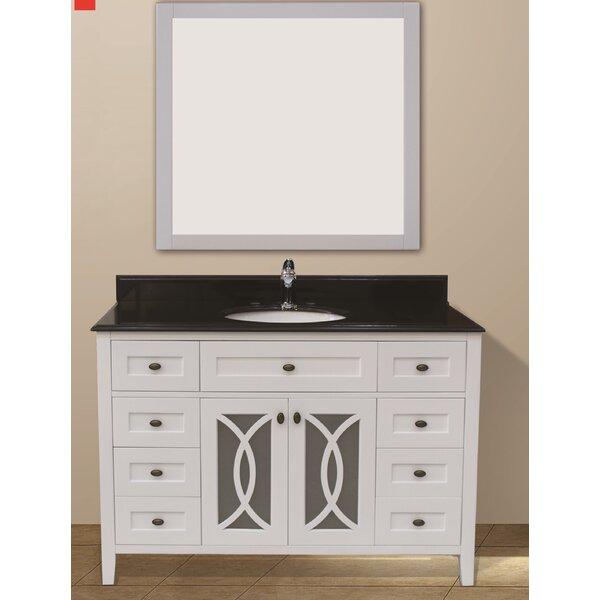 Milne 49 Single Bathroom Vanity Set with Mirror
