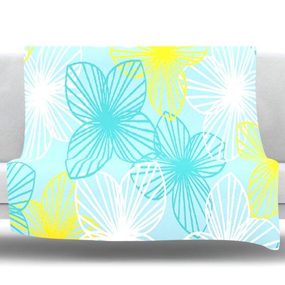 Sunshine by Emine Ortega Fleece Throw Blanket by East Urban Home