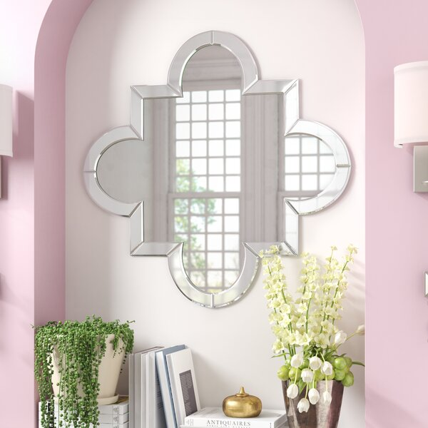 Beveled Quatrefoil Wall Mirror by Willa Arlo Interiors