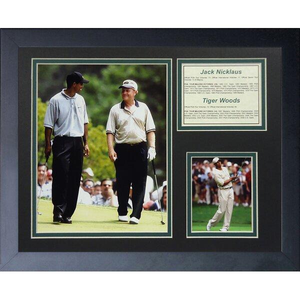 Jack Nicklaus and Tiger Woods Framed Memorabilia by Legends Never Die