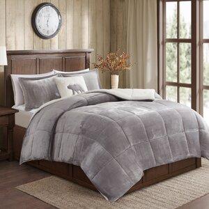 Alton Plush to Sherpa Comforter Set